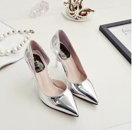 Wholesale Empty Dresses - New Woman Sexy Nightclub Fine with pointed Side empty shoes root was thin High heels Casual Shoes
