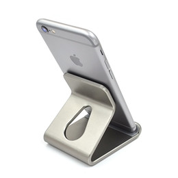 Wholesale Tablet Charger Stand - New Cell Phone Stand Holder For iPad Tablet For iPhone 7 6 6S Plus 5 5S SE For Samsung Galaxy S6 S7 S8 Edge Aluminum Charger Stand