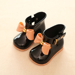 Wholesale Boys Water Shoes - 2017 Spring Summer Cute Girl Rain Boots Boys Girls Antiskid Water Shoes Little Girl Minised School Rainboots