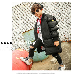 Wholesale Cheap Warm Kid Coats - kids boy fashion parkas irregular sleeves cotton-padded down coat winter warm clothes high quality children outwear clothes cheap wholesale