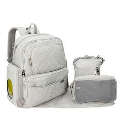 Wholesale Diaper Nappy Bag Bottle Holder - The Best Quality Nappy Bag Set Nylon Backpack Diaper Bag With Wipe Case Bottle Holder And Wet Bag