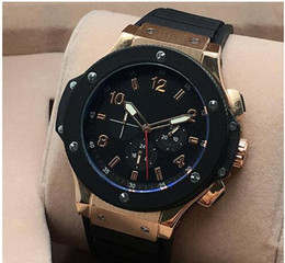 Wholesale Rubber Strap Wristwatch - 2017 Luxury watch Men watches All Subdials Work Rubber Strap Automatic Mechanical Movement Casual Sport Wristwatches For men AAA rolejes