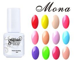 Wholesale Set Uv Led - Wholesale-Gelpolish Gel Colors Mona Brand 5ml Volume UV&LED Curing Nail Gel Polish Gorgeous Colors For Perfect Make Up Set.