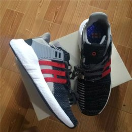 Wholesale Outdoor Coat Fabric - 2017 New Overkill x Consortium EQT 93 17 Boost Support Future Coat of Arms Pack Men women black sports shoes Running Sneakers 36-44