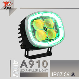 Wholesale 12 Volts Led Flood Lights - LYC Auto parts 4x4 40W car atmosphere lamp LED headlight 12 volt led tail lights for car and motorcycle