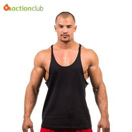 Wholesale Thin Modal Tops - Wholesale- 2016 Hot Sale Men Tank Tops Cotton Single Color Man's Tank Male Thin Straps Clothing Bodybuilding Vest Clothing
