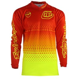 Wholesale Bmx Jersey Xl - Free shipping 2016 hot sale motorcycle corse Jersey off-road quick-dry Starburst MTB BMX Men's Motocross Outdoor long sleeves sports T-Shirt