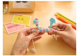 Wholesale Cartoon Winder - Korean Cartoon Stitch Minnion Cord Winder Universal Lovely Long Strip TPU Silicone Soft Cable Holder For Earphone Phone Cable