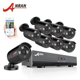 2019 видео ahd ANRAN 8CH система безопасности камеры AHD 1080N HDMI DVR 720P 1800TVL ИК открытый камеры домашнего видеонаблюдения комплекты оповещения по электронной почте скидка видео ahd
