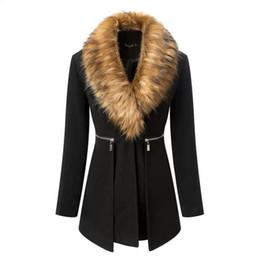Wholesale Slim Large Lapel Coat - 2016121039 2016 Large size women long section ovo collar woolen coat woolen coat suits