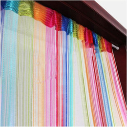Wholesale Wholesale Roller Blinds - Wholesale-String Chain Door Curtain Fly Screen Divider Room Window Blind Tassel Salable