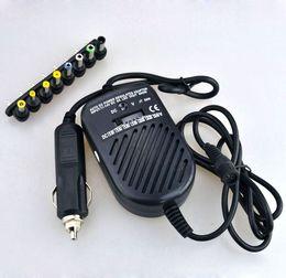 Universel DC 80W Car Auto Chargeur Adaptateur D'alimentation Ensemble Pour Ordinateur Portable avec 8 fiches détachables Livraison Gratuite En Gros 50pcs / lot ? partir de fabricateur