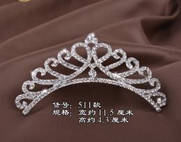 Wholesale Princess Round Diamond Ring - DG Baroque children's alloy princess, birthday crown, silver diamond tiara, Bridal Bridesmaid Jewelry wholesale, free delivery