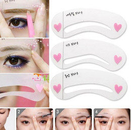 Kit de fabricación de plantillas online-Comercio al por mayor 3 estilos / set Grooming Stencil Kit Shaping DIY Beauty Eyebrow Template Make Up Tool