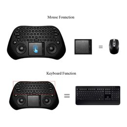 Wholesale Measy Wireless Keyboard - Measy GP800 Portable Handheld Ultra Mini QWERTY 79 Keys Tochpad Remote Control 2.4GHz Wireless Keyboard Air Smart Mouse Mice C2127