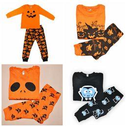 Wholesale Pumpkin Costume Baby - 4 Designs Halloween Costume Baby Leisure Wear Clothing Set Toddler Pajamas Suit Pumpkin Children Househeld Sleepwear 2pcs set CCA7055 100set