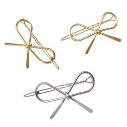Wholesale Girls Hair Clip Holder - New Vintage Hairpins Metal Bow Knot Hair Barrettes Girls Women Hair Accessories Hairgrips New Brand Holder Hair Clip