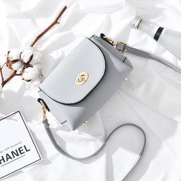 Wholesale Buckle Shoulder Bag - 2017 Women Shoulder Bags Messenger Bag Personality Simple Fashion Female Shoulder Buckle Metal Buckle Pu Purses And Handbags Crossbody