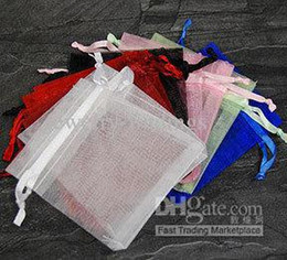 Wholesale Craft Gift Bags Wholesale - Promotion! mix Organza voile Favor Gift Sheer Craft Bags Assorted jewelry pouches 7 X 9cm