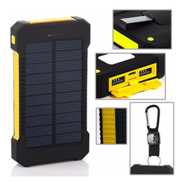 Wholesale Mobile Phone Charger External Battery - 18650 External Batteries Pack ,Solar Charger Waterproof Phone External Battery Dual USB Power Bank For Iphone,SAMSUNG,MOBILE,TABLETS,Camera