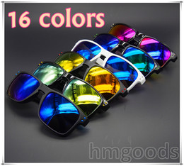 Wholesale purple shields - New Brand design Holbrook Sport 16 colors Shine Outdoor Eyewear Dot Travel Reflective Woman Man Glasses Sunglasses Goggles Mirror Unisex