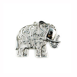 Wholesale Vintage Jewelry India - Vintage silver india elephant pendant for diy jewelry make Skillful Fashion Accessories Of Elephant Scarf Pendants PT-315