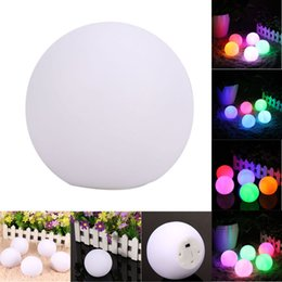 Wholesale Room Mood Lighting - Wholesale- Spheriform LED Color Changing Mood Ball Shaped Night Light Home Room Decor