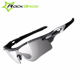 Wholesale Rockbros Polarized Sunglasses - Photochromic ROCKBROS Eyewear Polarized Cycling Glasses Bike Glasses Outdoor Sports Bicycle Sunglasses Goggles Eyewear Myopia Frame