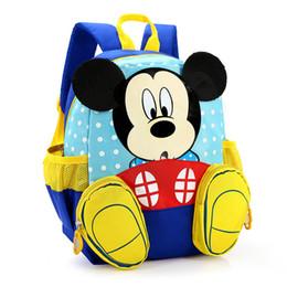 Wholesale Kids School Canvas Satchel - Kids bag Kindergarten Children Cartoon Mickey School Bags Minnie Backpack Waterproof Schoolbags Satchel