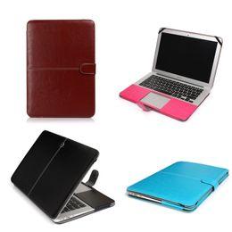 "Wholesale Macbook Pro Plastic - Plastic Shell Hard Cover Case PU Button For Apple Macbook Air Pro Retina 11.6"" 13.3"" 15.4"" A1370 A1465 A1369 A1466 A1278 1286 A1398 A1425"