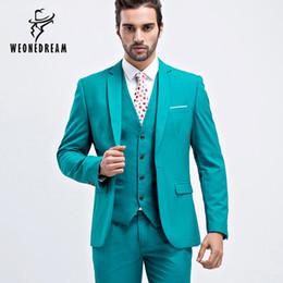 Wholesale fitted suits - Wholesale- Men Suit Slim Fit Men Purple Suits Plus Size Mens Wedding Suits Business Mens Formal Wear Mens 3 Piece Suits (Jacket+Vest+Pants)