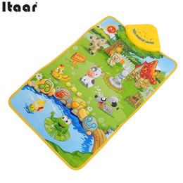 Wholesale Carpet Farm - Wholesale- Hot Sale Musical Music Farm Child Playing Mat Carpet