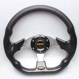 Wholesale pu steering wheel - HOT Car styling car steering wheel 13inch PU leather universal modified steering wheel MOMO PAI fit for AUDI SEAT HONDA MAZADA