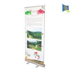 Enrolar expositores on-line-6 pcs Atacado 85 * 200 cm de Alta Qualidade De Alumínio Mais Grosso Retrátil Roll Up Display Banner Stand para Exposição de Feiras de Publicidade sem Gráfico