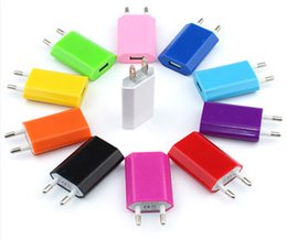 Wholesale Colorful Plug Adapter - Colorful EU US Plug USB Wall Charger AC Power Adapter Home Charger for iphone 7 6 6S Plus Samsung S7 S6 HTC