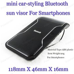 Wholesale Bluetooth Detector - Wholesale- Bluetooth mini car-styling car with LED car detector with a Bluetooth hands-free with sun visor Bluetooth V3.0+EDR hands-free