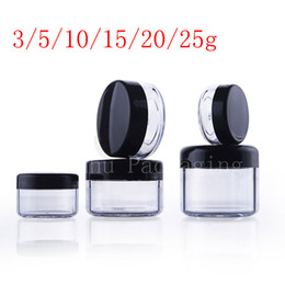Wholesale Cosmetic Jar Packaging Glass - empty transparent small round plastic display pot clear cosmetic cream jar balm container Mini sample container packaging
