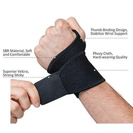 Wholesale Band Braces - New Reversible Sports Wrist Brace Fitted Right Left Thumb Stabilizer Wrist Support Wrap for Badminton Tennis Weightlifting Sweat Wrist Band