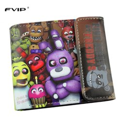 Wholesale Red Strange - Wholesale- FVIP Anime Cartoon HASP Open Three Flod Wallet Five Nights At Freddy`s  Doctor Strange  Suicide Squad Wallets For Young