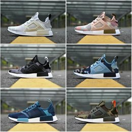 Wholesale Womens Cheap Football Boots - Drop Shipping Cheap Famous NMD XR1 Navy White Army Green Duck Camo Womens Mens Sports Running Shoes Size 36-44