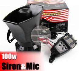 громкая автомобильная сирена Скидка 100W автомобиль Сирена Рог PA система громкий Мегафон+ микрофон для мотоцикла RV грузовик США DIY дело