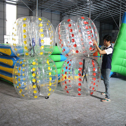 Wholesale Inflatable Bouncer Toys - Inflatable Bumper Football Body Zorbing Bubble 1.5m 0.8mm Soccer Ball Human Bouncer DHL OTH061