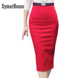 Wholesale Midi Tight Skirts - SymorHouse New women Pencil Skirt Plus Size Tight Bodycon Fashion Office Midi Skirt Slit Women's Skirt Fashion Jupe Femme 5XL