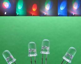 1000pcs 5mm Straw Hat RGB Colorful Slow Flashing Flash Red Green Blue LED Leds