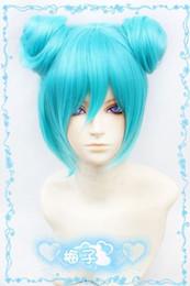 Wholesale Miku Wigs - Wholesale free shipping >>493 Vocaloid Miku DIVA f Cosplay Wig 2buns