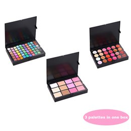 Wholesale Eyeshadow 96 - 96 Colors Multi-purpose Makeup Set Contain 60 Eyeshadow 6 Bronzers and Blush 8 Concealor and 16 Lip Gloss 3 Palette In 1 Box