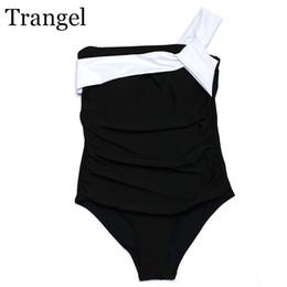 Argentina Traje de baño de una pieza de las mujeres del traje de baño de una pieza de Bikini de Trangel 2017 Traje de baño atractivo de la playa de Monokini Desgaste Negro blanco de Bahing de los trajes Suministro
