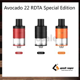 Wholesale GeekVape Avocado RDTA Special Edition ml Tank Larger Deck and Post Holes Easy to Build Heat insulated Drip Tip Original