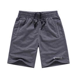 Wholesale Teenage Male Fashion - Wholesale- Man shorts summer 2017 new male knee-length casual knitted teenage boy shorts fashion plus size 4XL black gray
