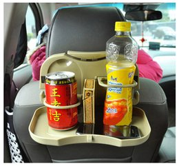 Wholesale Tray Holder For Drinks - 3 Colors Multifunction Car Back Seat Bottle Food Drink Cup Folding Tray Holder Useful Hot Selling dining table for automobile